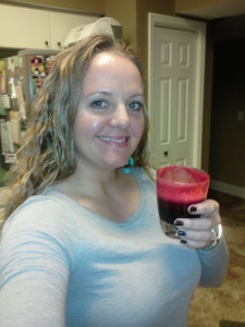 Me with beets juice
