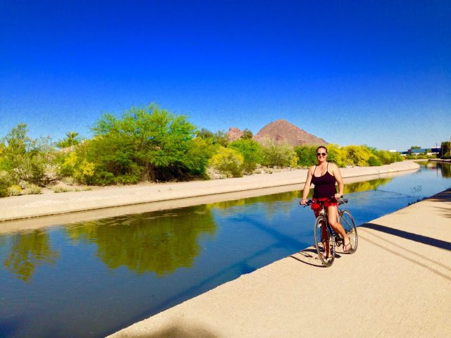 Biking on the Arizona Canal